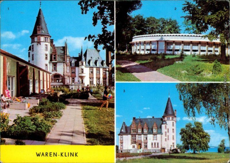 Klink (Müritz) Schloß, Rundgaststätte an der Müritz Ansichtskarte 1975