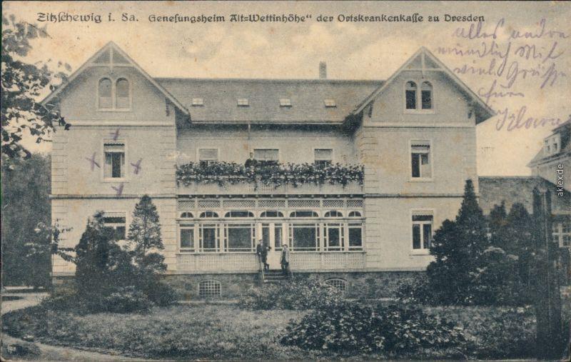 Zitzschewig Radebeul Genesungsheim Wettinhöhe Ansichtskarte 1921