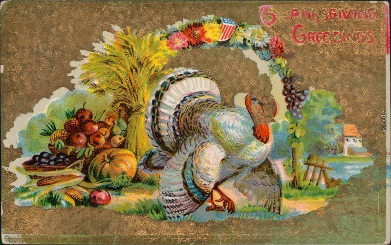 Thanksgiving Greetings: Truthan Goldrand 1908 Goldrand