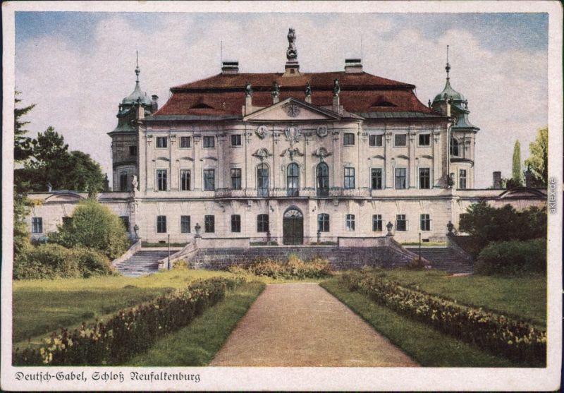 Deutsch Gabel Jablonné v Podještědí Schloß Neualtenburg b Liberec 1930