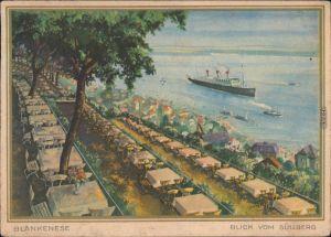 Blankenese-Hamburg Süllberg - Restaurant - Blick aufs Meer Künstlerkarte 1941