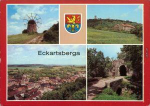 Eckartsberga Mühle mit Windrad um 1875, Polytechnischen Oberschule (Tor) 1987