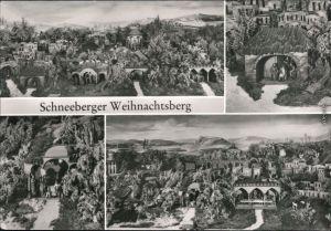 Schneeberg (Erzgebirge) Museum  Volkskunst - Diorama vom  Weihnachtsmarkt 1984