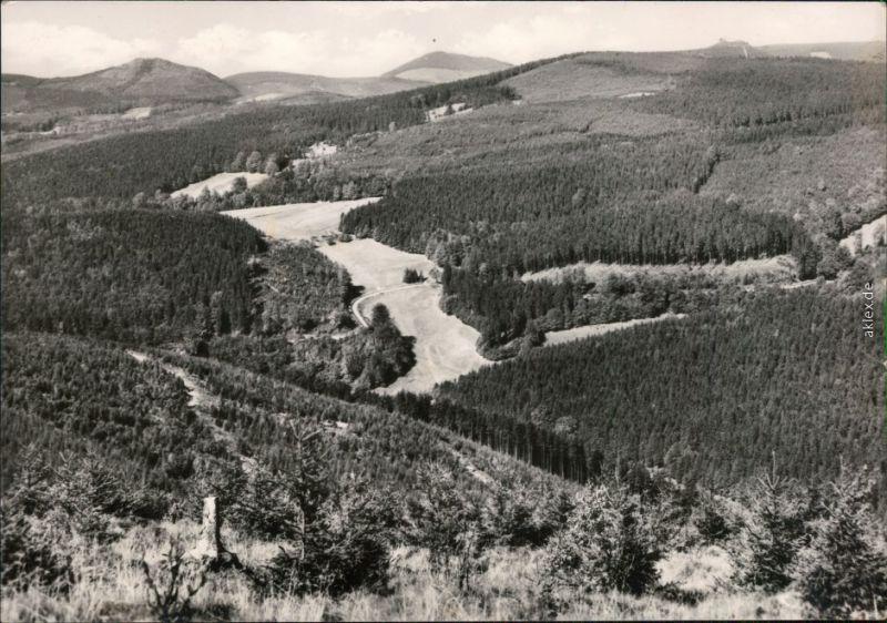 Ansichtskarte  Weitblick über den Thüringer-Wald 1972