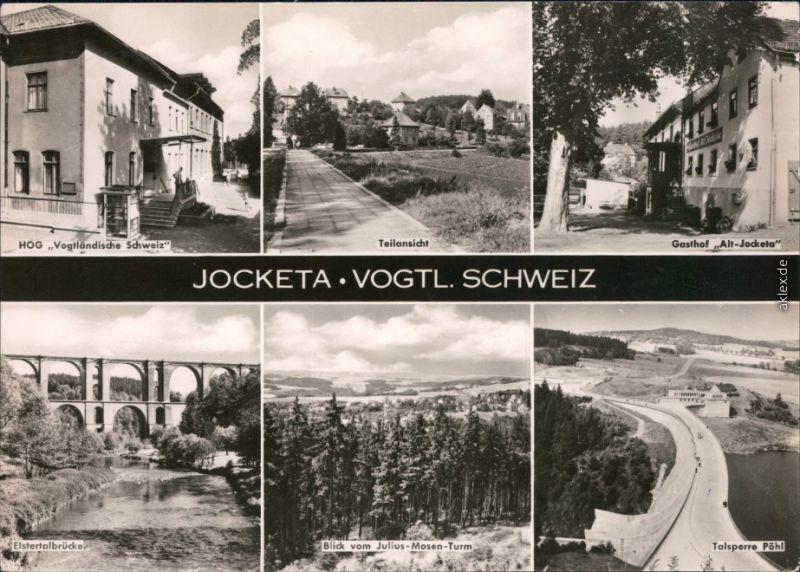 Jocketa-Pöhl HOG Alt-Jocketa Elstertalbrücke Mosen-Turm Talsperre Pöhl 1966