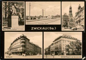 Zwickau Schedewitzer Brücke, HO-Ringcafé, HO-Hotel Wagner Bahnhofsstraße 1964
