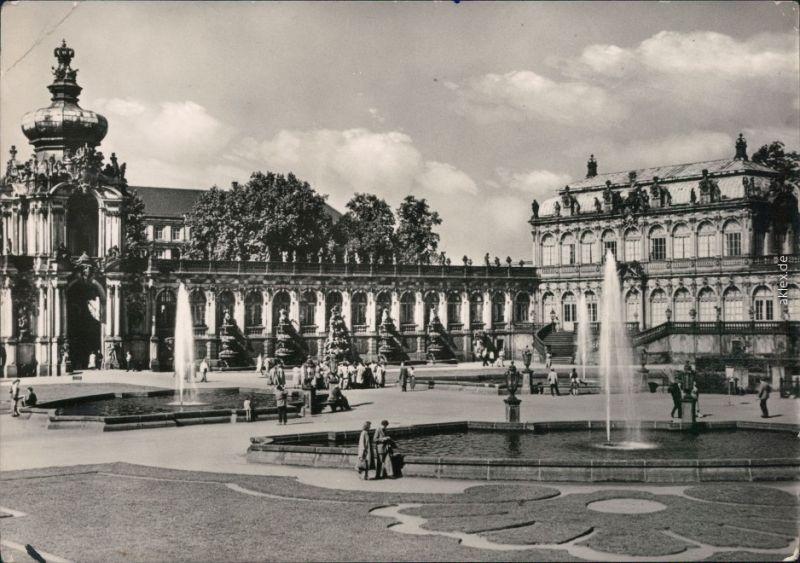 Altstadt Dresden   Zwinger: Kronentor - L Staatl. Mathem.-Phys. Salon 1964