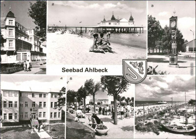 Ahlbeck (Usedom) 1 FDGB-Erholungsheim 2 Seebrücke  FDGB-Erholungsheim  1982