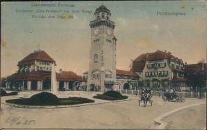 Reinickendorf-Berlin Bahnhof, Bahnhofsplatz und Conditorei - Frohnau 1918