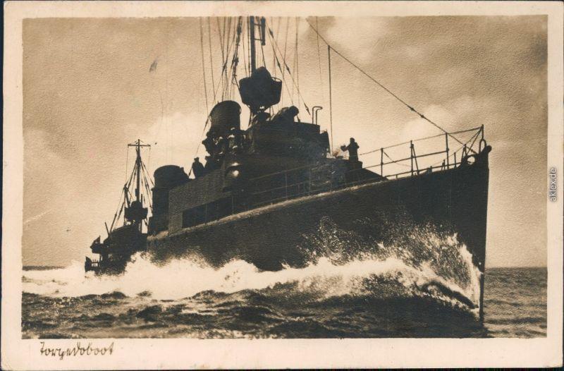Ansichtskarte  Torpedoboot - Deutsche Kriegsmarine Fotokarte 1943