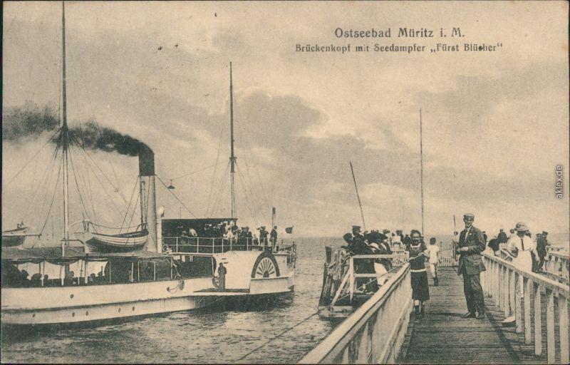 Graal Müritz  Müritz i. M., Brückenkopf mit Seedampfer