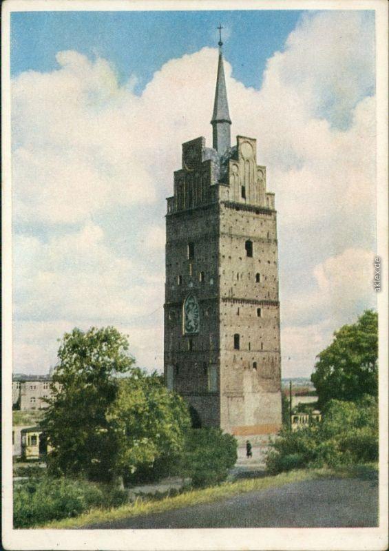 Ansichtskarte Rostock Kröpeliner Tor 1955