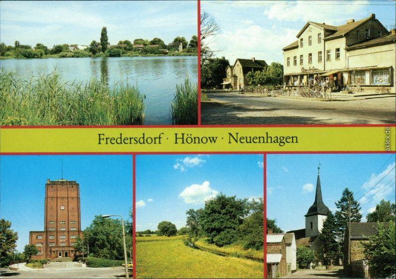 Hönow, Fredersdorf C-Warenhaus, Kirche Mühlenfließ, Neuenhagen - Rathaus 1989