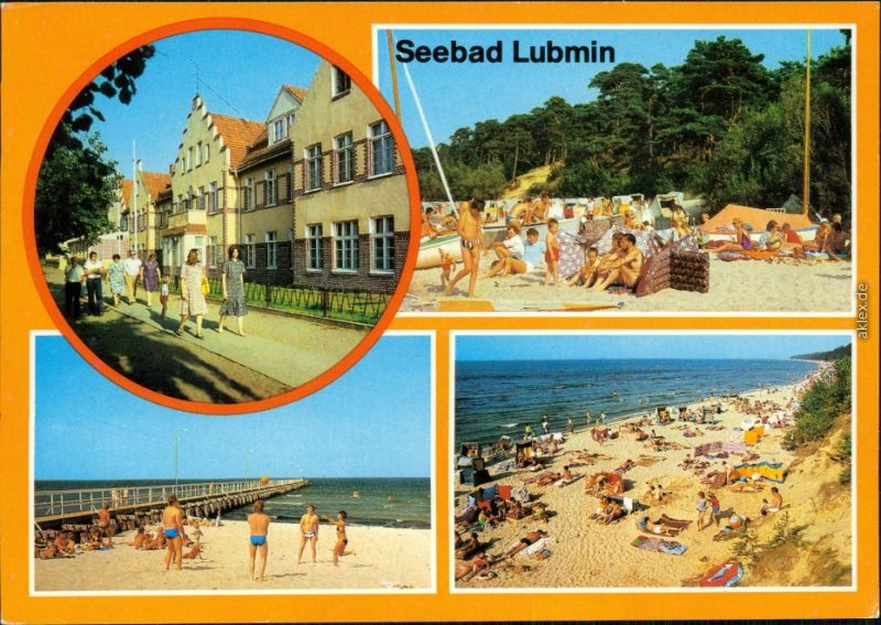 Ansichtskarte Lubmin Seebad Lubmin, Strand 1981