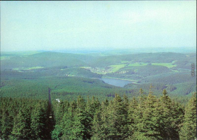 Sosa (Erzgebirge)-Eibenstock Panorama-Ansicht, Talsperre Sosa 1995