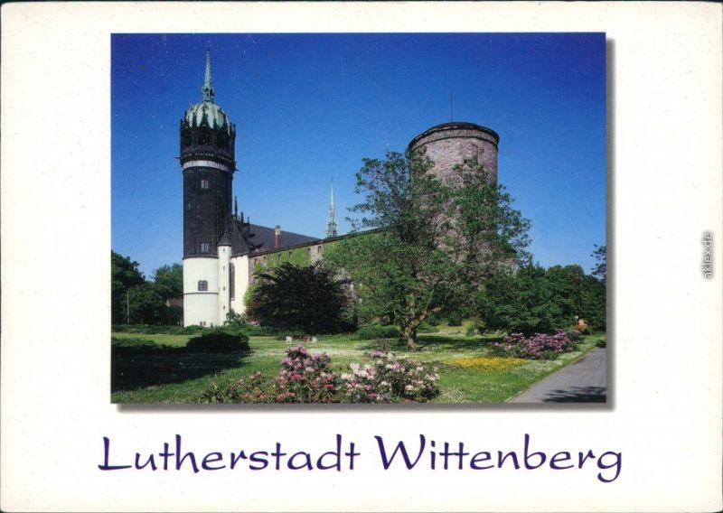 Lutherstadt Wittenberg Blick zur Schloßkirche mit ehemaligem Schloß 1994