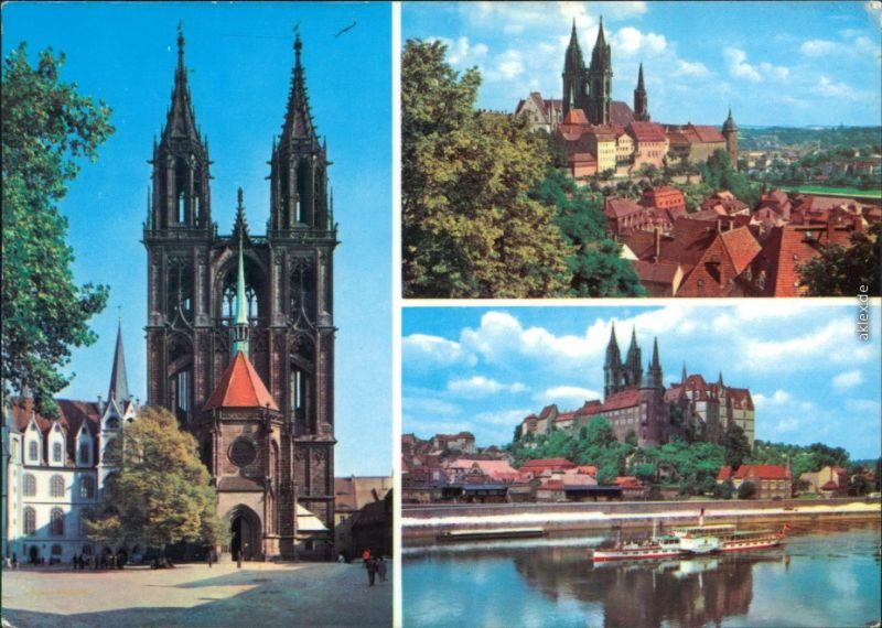 Ansichtskarte Meißen Dom und Albrechtsburg 1980