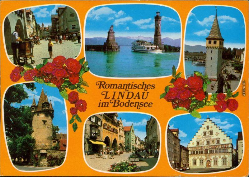 Lindau Hafeneinfahrt Mangenturm Altes Rathaus Diebsturm Fußgängerzone 1986