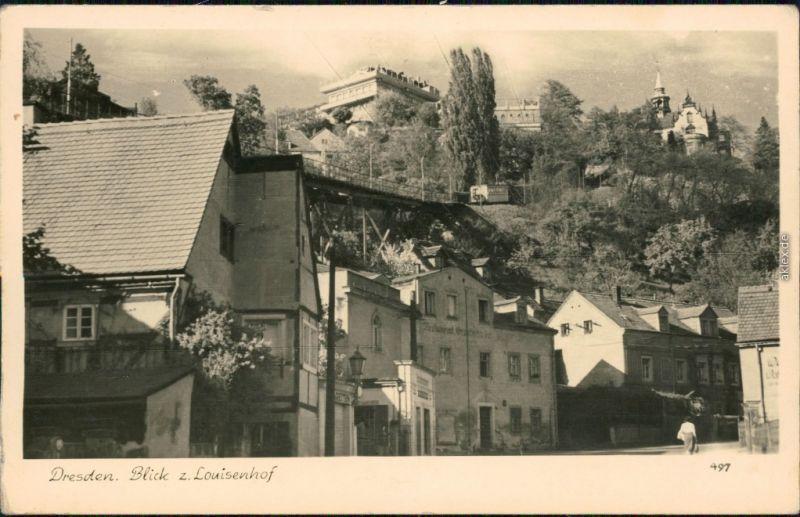 Ansichtskarte Loschwitz-Dresden Louisenhof 1955