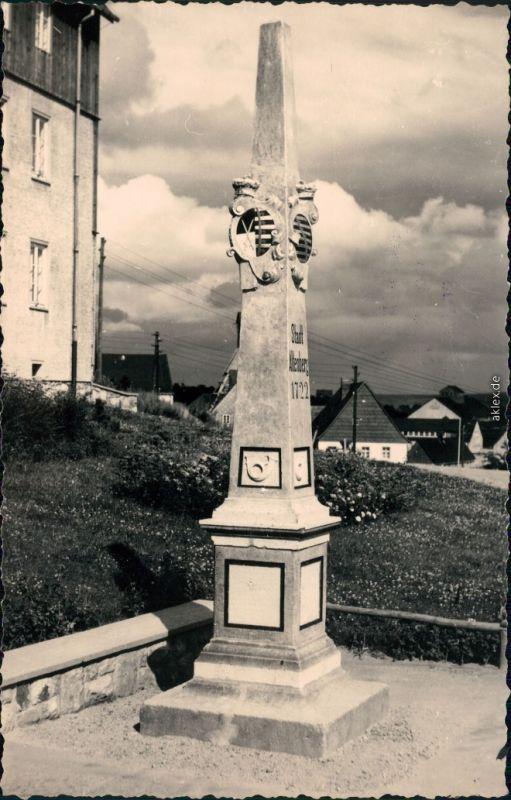 Ansichtskarte Altenberg (Erzgebirge) Postsäule 1963