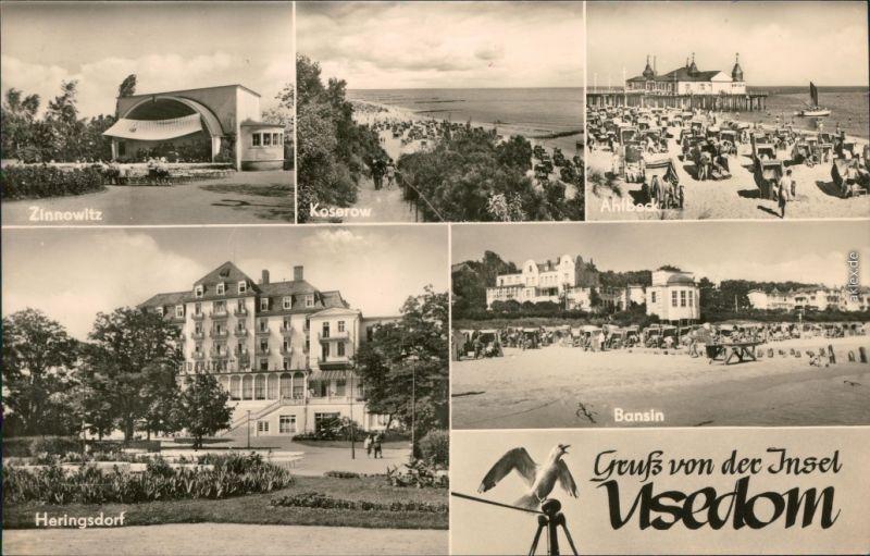 Usedom Zinnowitz - Konzertplatz,  Ferienheim, Bansin - Strand 1966