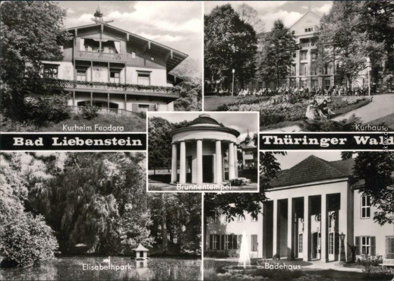 Bad Liebenstein Kurheim Feodora, Kurhaus, Elisabethpark, Badehaus 1976