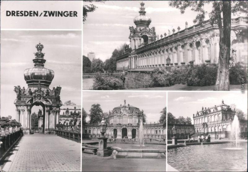Dresden Zwinger: Langgalerie Kronentor, Wallpavillon, Math.-Phys. Salon 1984
