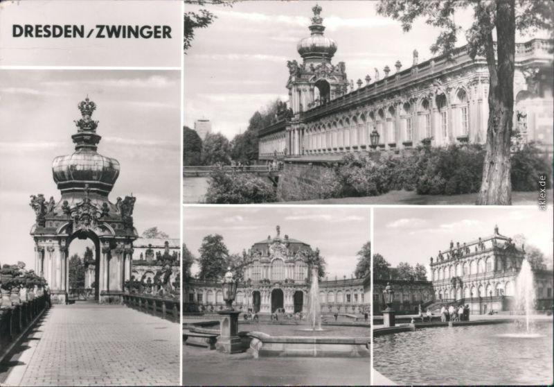 Dresden Zwinger: Langgalerie, Kronentor, Wallpavillon, Math.-Phys. Salon 1984