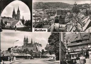 Meißen Domblick, Alt-Meißen, Historische Gedenkstätte am Markt, Elbbrücke 1974
