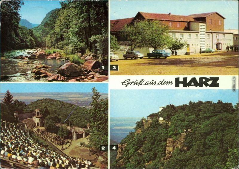 Thale/Harz Bodetal Bergtheater Berghotel Roßtrappe Hexentanzplatz Bodetal 1978