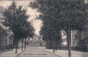 Ansichtskarte Bramsche Partie in der Bahnhofstraße Osnabrück 1912