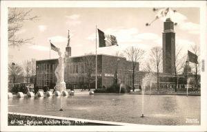 Ansichtskarte New York City World Fair Belgium Exhibits Building Rppc 1940
