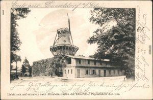 Potsdam historische Mühle   Werbekarte Elberfelder Papierfabrik AG  1901