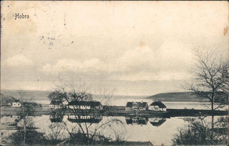 Ansichtskarte Hobro Blick auf die Stadt 1913