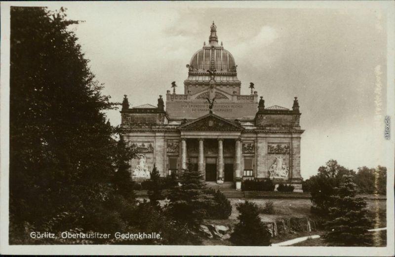 Ansichtskarte Zgorzelec Görlitz Oberlausitzer Gedenkhalle
