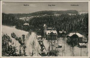 Waldbärenburg-Altenberg (Erzgebirge) Bergfried, Erzgeb. Heim, Schäfermühle 1926