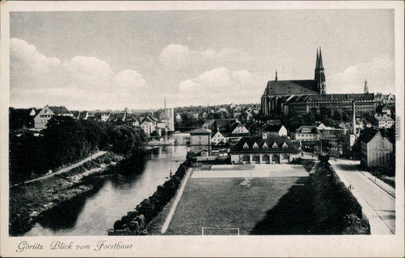 Ansichtskarte Zgorzelec Görlitz Blick vom Forsthaus 1940