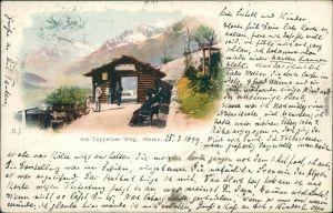 Ansichtskarte Meran Merano Litho: Tappeiner Weg Südtirol 1899