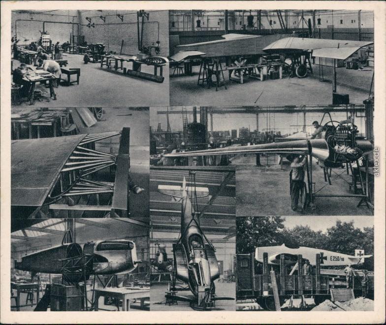 Einzelbilder - Herstellung der ersten Ganzmetall Flugzeuge  - Junkers 1933