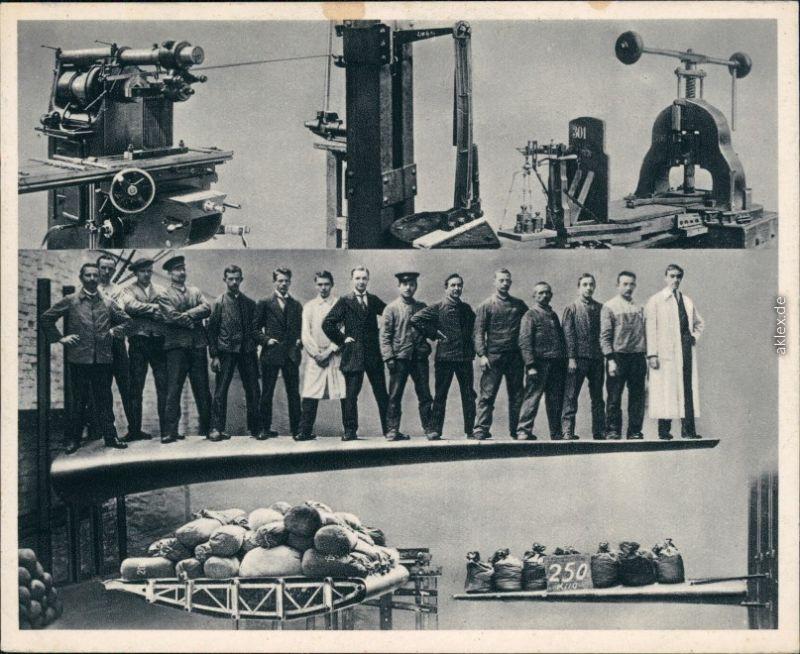Werbekarte  Flugzeug  Junkers arbeit Qualitätsarbeit 1933