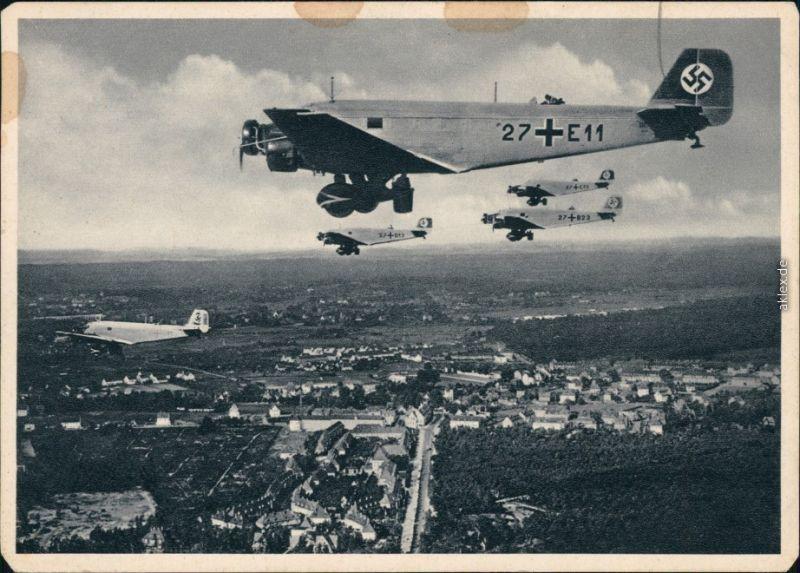 Werbekarte   Ganzmetall-Flugzeug Junkers Ju 52/3m K 1935