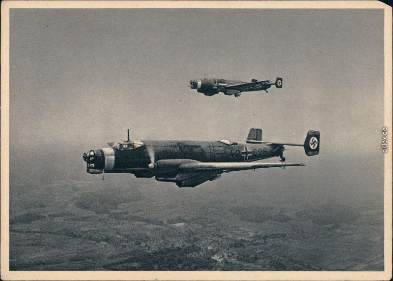 WErbeblatt Karte   Ganzmetall Flugzeug Junkers JU 86 K 1934