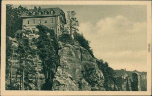 Ansichtskarte Hohnstein (Sächs. Schweiz) Brand-Hotel 1928