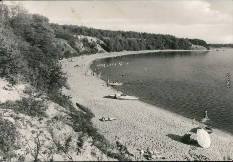 Ansichtskarte Groß Särchen-Lohsa Łaz Knappensee Badestrand 1979