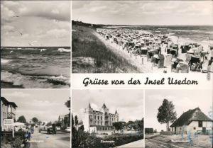 Karlshagen Usedom: Straße Karlshagen, Strandvilla Zinnowitz  Trassenheide 1969