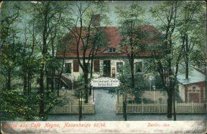 Ansichtskarte Kreuzberg Berlin Gruss vom Cafe Heyne - Hasenheide 40/44 1911