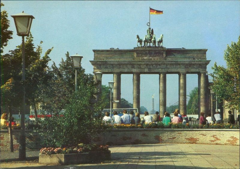 Ansichtskarte Mitte-Berlin Brandenburger Tor 1987