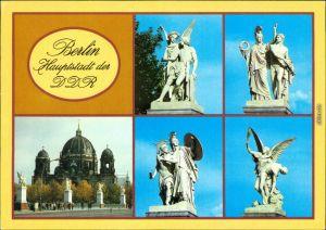 Mitte-Berlin Schlossbürcke (Marx-Engels-Brücke ) mit Skulpturen 1984