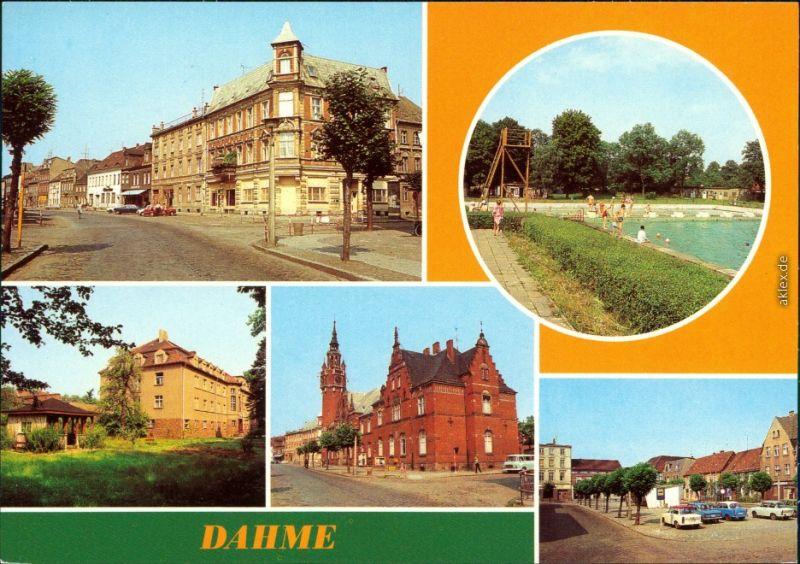 Dahme Mark Wilhelm-Pieck-Straße, Freibad, Krankenhaus Ernst-Thälmann-Platz 1982