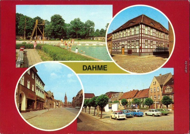 Dahme (Mark) Freibad, Museum, Wilhelm-Pieck-Straße, Ernst-Thälmann-Straße 1982